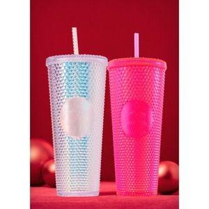 Starbucks Neon Pink Stud Holiday 2019 Tumblr